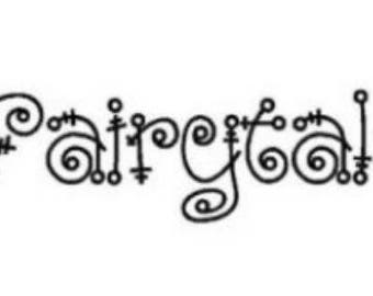 Fairytale Machine Embroidery Font Set Instant Digital download
