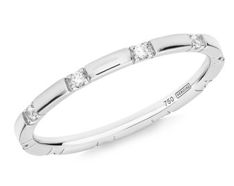 10 Stone Diamond Stacking Eternity Ring in 18ct White Gold