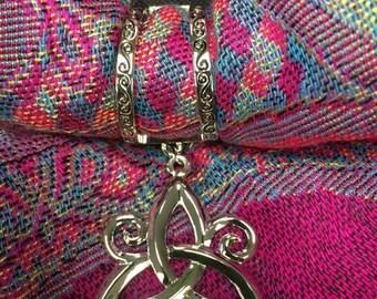 Scarf Charm- Triskele Trinity Knot