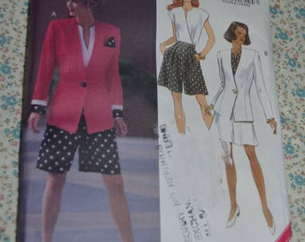 Butterick 6155 Misses  Jacket Top and Shorts Sewing Pattern - UNCUT - Size 6 8 10