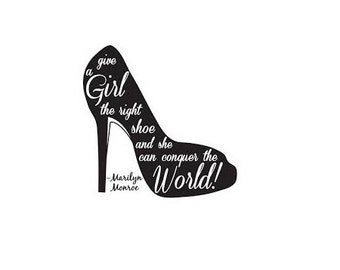 Marilyn Monroe Shoe Quote Wall Decal