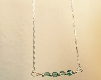 Apatite and sterling necklace