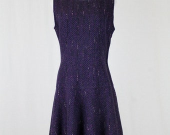 Vintage KORET of California 1950's Purple 100% WOOL Jumper DRESS New Condition M