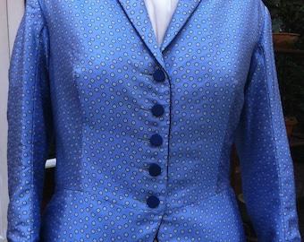 Light Blue Spot Jacket UK Size 16
