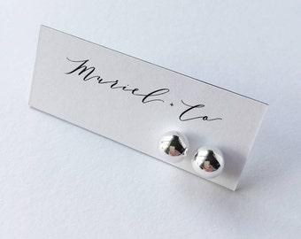 X-Large Sterling Silver Ball Earrings