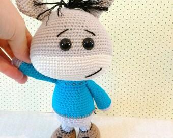 Chlothar the donkey of crochet / crochet doll / donkey amigurumi