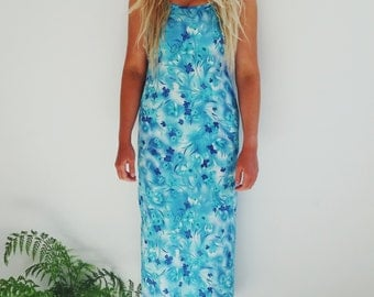 SALE 80's summer maxi dress