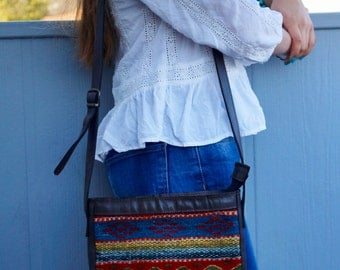 Colorful wool bag