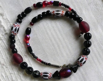 African Beads, Ethno Jewelery, Onyx Pearls,