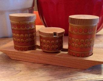 Vintage Hornsea Saffron Cruet set