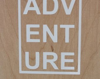 ADVENTURE vinyl decal / simple / boxed / car decal / cup decal / rectangle / tumbler decal / computer decal / phone case / wanderlust