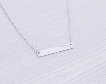 Silver Bar Necklace - Stamping Supplies - Engraving Supplies - Bar Necklace - Stainless Steel Blanks - Hand Stamping Blanks - Stainless