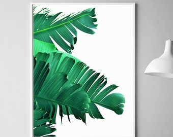 Banana Leaf Art Printable Palm Wall Decor Print