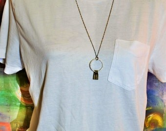 Vintage Silver & Gold Charm Necklace