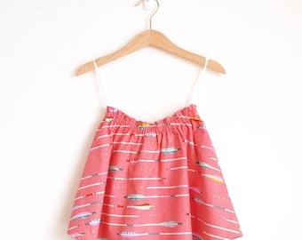 Girls Skirt Arrows, Toddler Skirt Coral, Girls Skirt Twirl, Girls Skirt Coral, Girls Skirt Bright, Toddler Skirt Colorful, Twirly Skirt