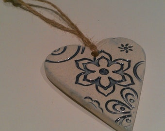 Hanging Heart Delft Blue