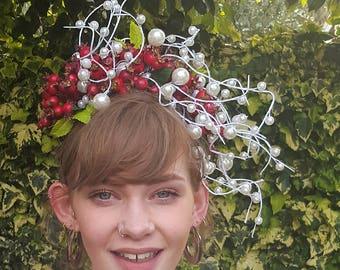 Berry and Bead Headband