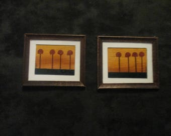 miniature paintings, dollhouse accesories