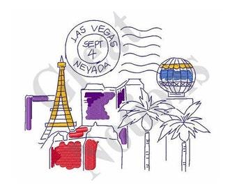 Travel Las Vegas - Machine Embroidery Design