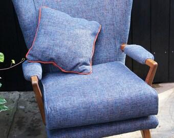Vintage original G -Plan wing back chair - reupholstered
