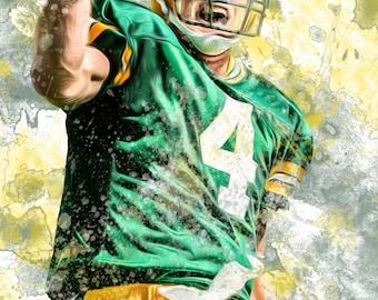 Brett Favre Green Bay Packers Poster
