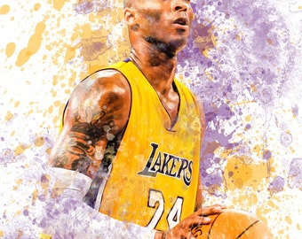 "Kobe Bryant Los Angeles Lakers 13"" W x 19"" H Poster"