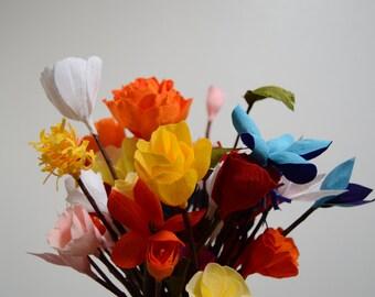 Crepe Paper Flowers (Varieties Available)