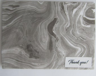 Marbled Paper Thank You Card Set / Thank You Notes with Envelopes / Thank You Note Cards / Unique Card Set / Homemade Thank You Cards