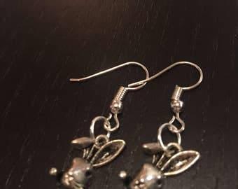bunny themed earrings