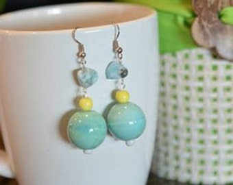 1st pair of Lorraine's Earrings in the Beach Series