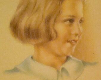 SALE Vintage Child Postcard # 4