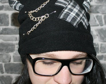 Cap with cat ears, neko, cosplay, black