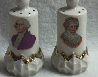 George and Martha Washington Salt and Pepper Shakers (#016)