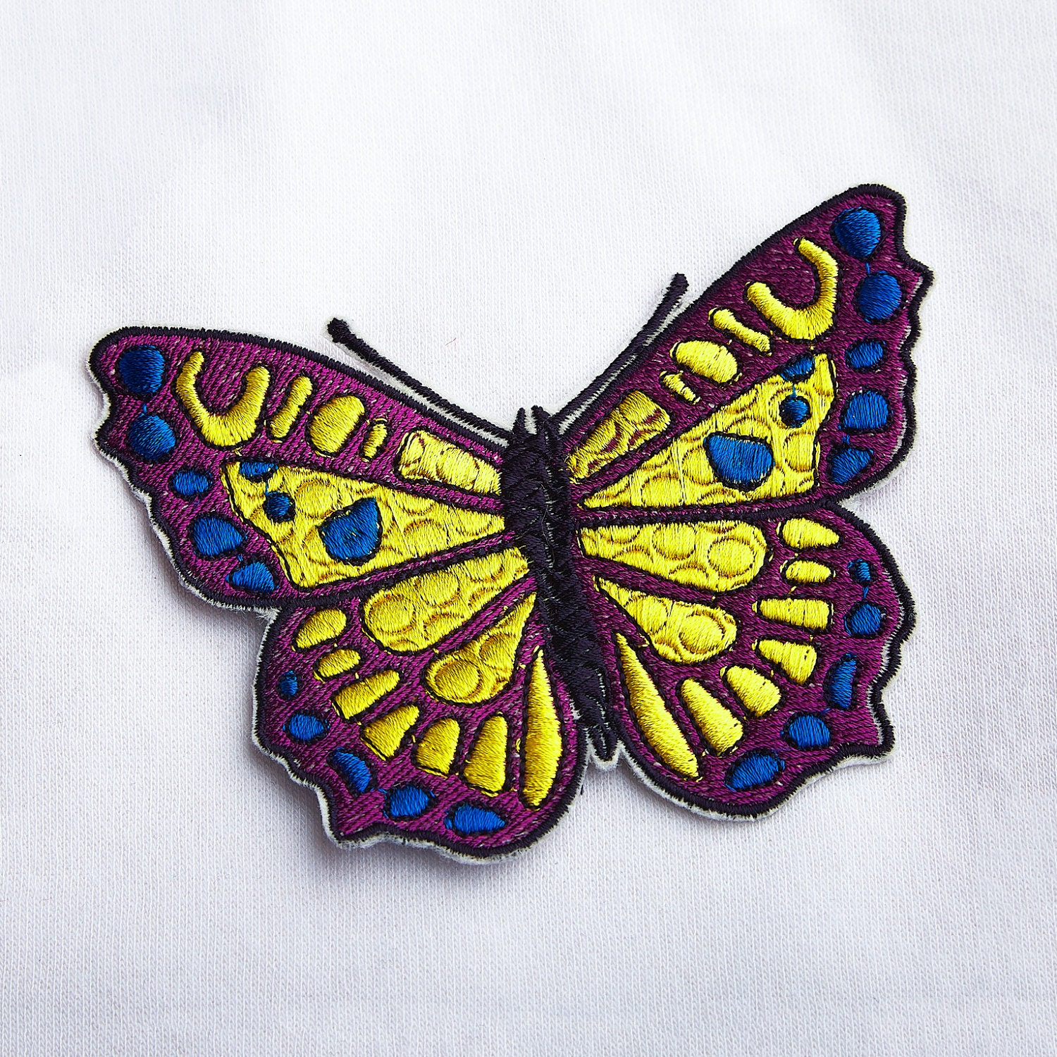 Butterfly patch embroidery iron on cool large