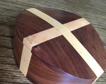 Bandsaw box, trinket box, wooden box, handcrafted wood box