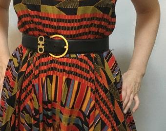 Vintage Salvatore Ferragamo Belt with Double Gancio detail / S/M