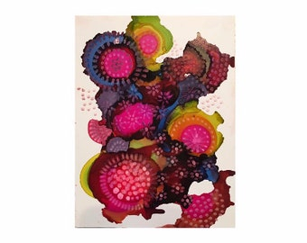 Abstract Print - Alcohol Ink Art - colorful Print - Abstract Art - Purple Art - Floral Art - Ink Painting - Colorful Art