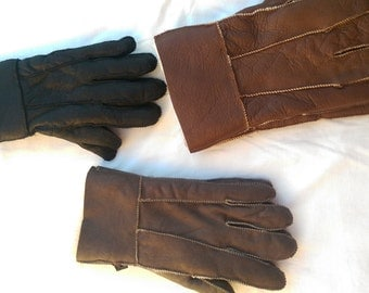 Gloves for winter Unisex adult XS, S, M, L, XL Sheepskin winter gloves