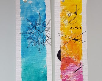 "Set of 2 bookmarks series ""abstract"""