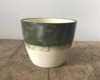 Olive green pot