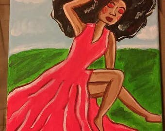 Acrylic Painting: Sitting Pretty