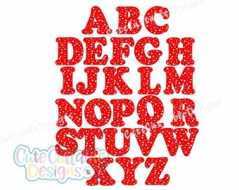 Dotted Monogram Font SVG  Polka Dot Cut file in SVG, Eps and Dxf. Instant downlod vecotor font for craft cutters like Circut and Silhouette