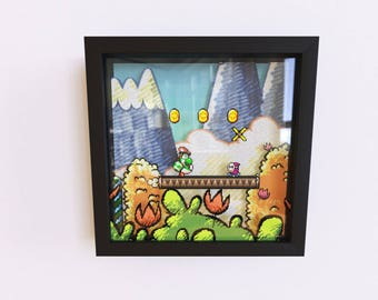 Super Mario World 2 - Yoshi's Island 3D Shadow Frame