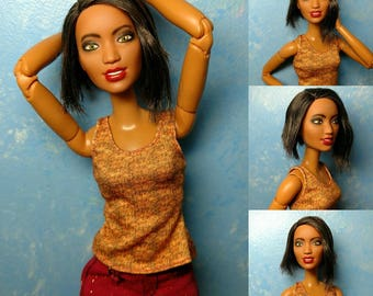 Maya - OOAK Repainted 1/6 scale, SUPER articulated 11 1/2 inch fashion doll