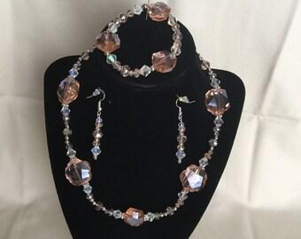 4: Necklace, Bracelet, Earrings Set