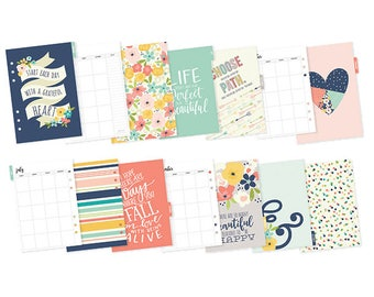 Monthly inserts a5, Posh Monthly inserts a5, Posh collection, 12 month A5 inserts, Planner inserts, a5 insert