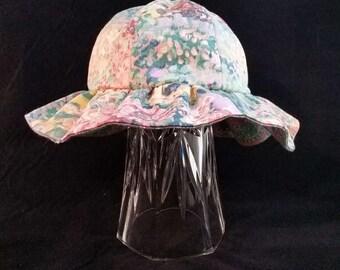 Reversible Ruffle Hat Pastel Colors  Baby Medium   BMR1