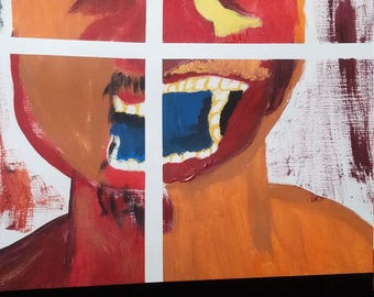 Faces - acrylic painting on Canvas paper