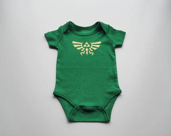 The Legend of Zelda Triforce Baby Bodysuit/Onesie (0-3 mo)