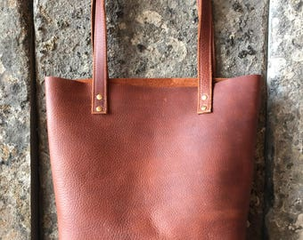 rust leather tote || leather laptop purse || shoulder bag || every day tote bag || bag tote carry all || leather satchel || gift for her
